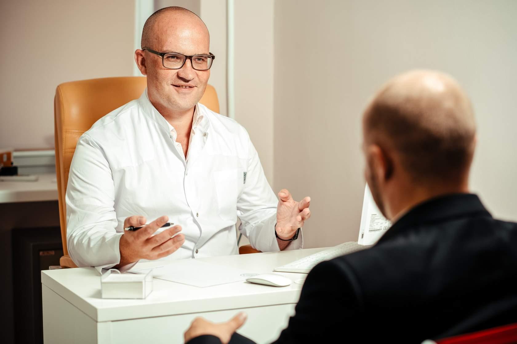 GP having conversation with patient
